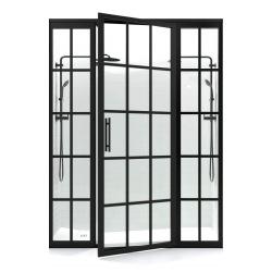 Černé ocelové dveře do...