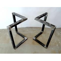 Kovové hranaté podnoží stolu typ 4