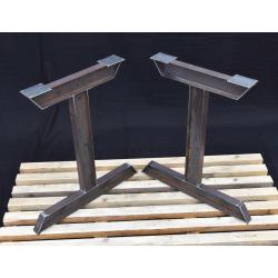 Kovové hranaté podnoží stolu typ 7