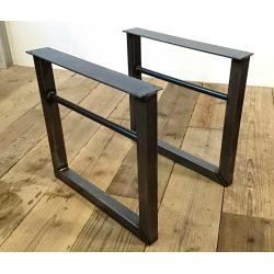 Kovové hranaté podnoží stolu typ 11