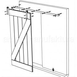 Posuvný systém na celoskleněné dveře Country Glass, pro dvoukřídlé dveře