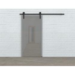 Posuvný systém na celoskleněné dveře Glass 80, prodvoje dveře