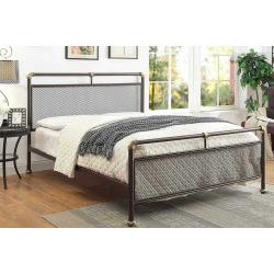 Manželská postel z ocelových trubek Streampunk 2