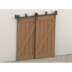 Posuvné kování pro dvouřadé dveře RETRO BARN