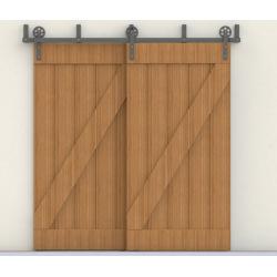 Posuvné kování na dvou kolejnicích DOUBLE COUNTRY - pro 4 křídla dveří