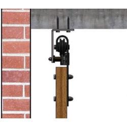 Retro Barn posuvný přiznaný systém v retro stylu, černý