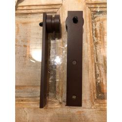 Ocelový hranatý posuvný systém Retro Barn, pro jedny dveře