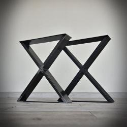 Ocelové podnoží k jídelnímu stolu typ X hladké
