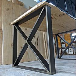 Ocelové nohy k jídelnímu stolu typ X11 v rámu