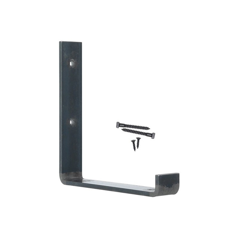 Ocelový držák na nástěnné police vrchní 25cm