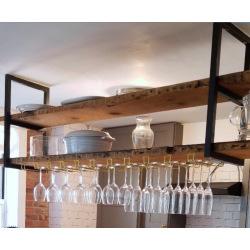 Ocelová konzole do kuchyně nad ostrůvek