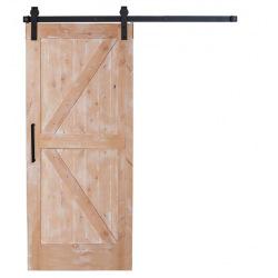 Posuvné stodolové dveře dvojité Z v rámu